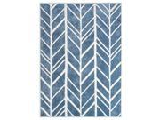 7 ft. Area Rug in Blue and Ivory (7 ft.L x 5 ft. W)