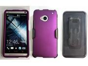 HTC One/M7 Beyond Cell Premium Hardcase w/ Stand - Purple