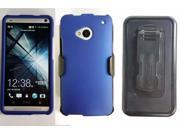 HTC One/M7 Beyond Cell Premium Hardcase w/ Stand - Blue