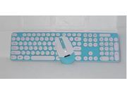 HK3960 The circular buttons wireless keyboard mouse combination