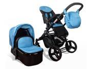 Elle Baby 3-in-1 BLUE Travel System Child Stroller and Pram