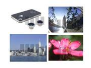 Fisheye + Wide Angle + Macro Lens for Smartphone Smart Cell Phone Tablet Pocket Camcorder Camera Apple iPad Mini 4 iPod Touch iPhone 5 4S Sony Xperia Tablet S Z Ultra HTC One Butterfly S LG Optimus