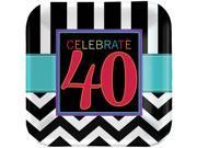 40th Celebration Dinner Plates (8)