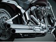 Kuryakyn 507 Chrome Crusher Power Cell Staggered Duals Exhaust For Harley-Davidson Softails by KURYAKYN