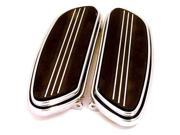 V-Factor Speed-Line Chrome Plated Footboards for 1986 Plus Harley by V-Factor/MidUSA