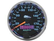 Auto Meter 19340-M 2-5/8 Black Face Speedometer for Harley 1995-03 Big Twin & XL by AUTOMETER