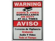 VONNIC A1000 Surveillance Warning SIGN 9 x 11 Plastic Red/White