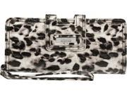 KENNETH COLE REACTION Croc- Embossed Leopard Print Wristlet Wallet