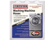 Certified Appliance 77508 Rubber Washing Machine Hose Kit (6 ft)
