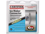 Certified Appliance 77905 Braided Stainless Steel Ice Maker Connector (6 ft)