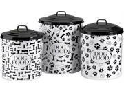 IMAX 44201-3 Dog Food Storage Canisters, Set of 3