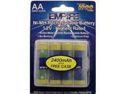 Empire Battery NMH-4/AA Replaces 4AA NiMH RECHARGEABLE PER CARD