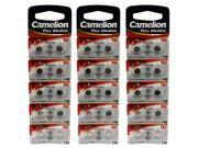 30pcs Camelion AG4 1.5 Volt Alkaline Button Cell  Battery FAST USA SHIP