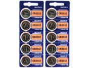 10pk Sony Coin Cell Battery CR2032 3V Lithium Replaces DL2032, BR2032 FREE SHIP