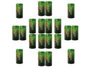 20pcs Evergreen CR123 2/3A 3V Lithium Batteries 123-SANYO RL123A ULCR123R
