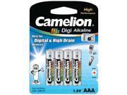 Camelion LR03 1.5V 1250mAh AAA Digi-Alkaline 4pk Blister  USA SHIP ALK