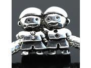 Brothers Together European Charm 925 Sterling Silver Bead fit Pandora Bracelet Necklace Chain