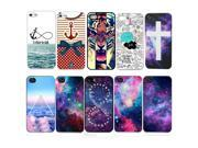 10pcs/lot Color Skin Hard Back Cover Plastic Case For iPhone 5 5S