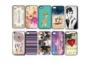 10pcs/lot Color Skin Back Case Hard Plastic Cover For iPhone 5 5S
