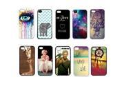 10pcs/lot Color Skin Back Case Plastic Cover For iPhone 4 4S