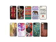 Lot 10pcs Multicolor Pattern Hard Back Cover Plastic Case For iPhone 4 4S