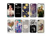 Lot 10pcs Colorful Skin Several Style Plastic Cover Hard Back Case For iPhone 5 5S