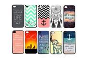 Lot 10pcs Colorful Pattern Skin Back Cover Plastic Case For iPhone 5 5S