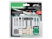 Kawasaki® 25 pc Cleaning & Polishing Bit Set - 841117
