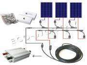 USA STOCK 200W solar panel grid tie kits 2x100W solar panels 300W on grid inverters 12V