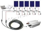 USA STOCK COMPLETE KIT: 600 Watt 24V PV Solar Panel Boat 6x100W solar panel