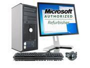 "Dell Optiplex 760 Intel Core 2 Duo 3000 MHz 80Gig HDD 4096mb DVD ROM Windows 7 Professional 32 Bit + 19"" LCD Desktop Computer"