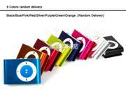 Fashoin Mini Clip Metal USB MP3 Music Media Player Support 1GB - 8GB Micro SD TF