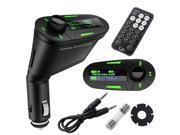 Shenzhen Carpo Tech SV004148_G Wireless FM Transmitter Remote Car Kit MP3 Player - USB, SD, LCD, Green Light
