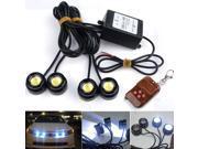 4 pcs LED Eagle Eye Knight Night Rider Scanner Lighting DRL Flashing Light