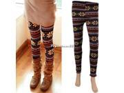 New Fashion Women Snowflake Deer Warm Leggings Tights Winter Thicken Pants