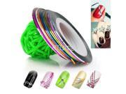 New 10 Color Rolls Striping Tape Line Nail Art Decoration Sticker