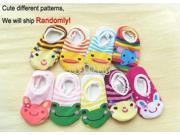1 Pair New Cute Lovely Infant Toddler Babys Cartoon Pattern Ankle Socks Anklet