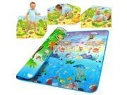 Baby play mat game pad child crawling activity mat two sidesOcean game blanket