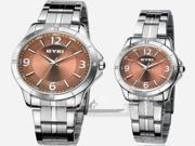 1 Piece Vintage Rhinestone Steel Band Lover's Quartz Wrist Watch Best Gift For Man or Lady or Couple