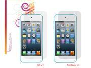 rooCASE 4-Pack x2 Anti-Glare Matte and x2 HD Screen Protector for iPod Touch 5