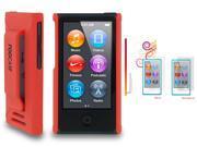 rooCASE Slim Matte Shell Case Cover + 4x LCD for iPod Nano 7 7G, Orange
