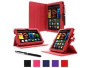 roocase Amazon Kindle Fire HDX 7 Case - Dual View Multi Angle Tablet 7-Inch 7 Stand Cover - Red (With Auto Wake / Sleep Cover)