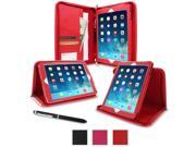rooCASE Apple iPad Air Case - Leather Executive Portfolio Case for Apple iPad Air 1 2013 (Previous Model, 5th Generation) Tablet, RED (With Smart Cover Auto Wake / Sleep)