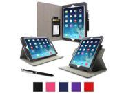 iPad Air 1 Case - roocase Dual View Folio iPad Air 2013 PU Leather Case Smart Cover (Supports Auto Sleep/Wake) for Apple iPad Air 1 (2013) 5th Generation, Black