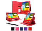 rooCASE Samsung Galaxy Tab Pro 10.1 / Note 10.1 2014 Edition Case - Dual View Multi-Angle Stand Tablet Cover - Red (With Auto Wake / Sleep Cover)