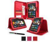 Kindle Fire HDX 8.9 Tablet (2014) Case, roocase new Kindle Fire HDX 8.9 Executive Portfolio Leather Case Cover with Stylus for All-New Fire HDX 8.9 Tablet (2014), Black