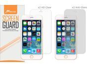 iPhone 6s Plus Screen Protector, roocase 4-Pack iPhone 6s Plus (x2 Anti-Glare Matte & x2 HD Clear) Screen Protectors Film Guard for Apple iPhone 6 Plus / 6s Plus (2015)