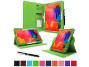 """rooCASE Samsung Galaxy Tab Pro 10.1 / Note 10.1 2014 Edition Case - Dual View Multi Angle Landscape Portrait Stand 10.1-Inch 10.1"""" Tablet Case - Green (With Auto Wake / Sleep Cover)"""