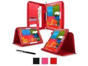 """rooCASE Samsung Galaxy Note PRO & Tab PRO 12.2  Case - Executive Portfolio Leather 12.2-Inch 12.2"""" Cover with Landscape, Portrait, Typing Stand, Hand Strap - Red (With Auto Wake / Sleep Cover)"""