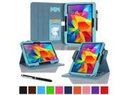 "rooCASE Samsung Galaxy Tab 4 10.1 Case - Dual View Multi-Angle Stand 10.1-Inch 10.1"" Tablet Cover (Compatible with Galaxy Tab 3) - BLUE (With Auto Wake / Sleep Cover)"